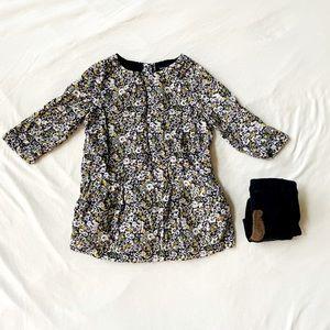 BabyGAP floral dress & tights (18-24 months)